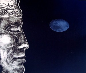 Visage, Gerard Lecomte Rard, Lithographie