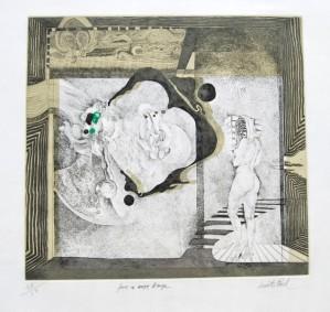 Druckgrafik, Femme, Gerard Lecomte Rard