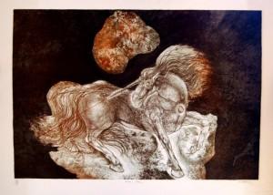 Gerard Lecomte Rard, Lithographie, Licorne