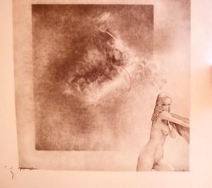 Gerard Lecomte, Zeichnung, Songe